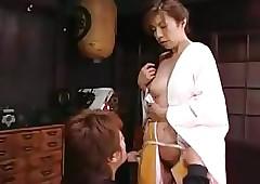 Japanese Mam Seduces Crony