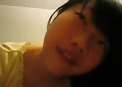 Cute Chinese Teen Sucking say..
