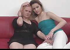 Serbian granny together with..