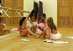 Hot ballet cissified orgy