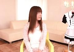 Newbie asian teen Anri Sonozaki..