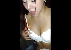 Nuts Russian girls wide taxy