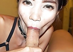 Asian Girlette Fucks Wean away..