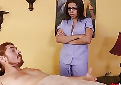 Teen Masseuse Teases Criminal..